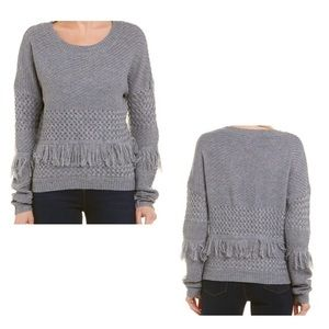 BB Dakota Crew Neck Sweater with fringe